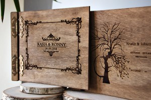 Album with laser engraving
