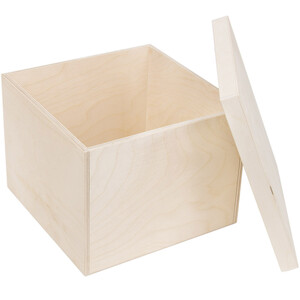 6 litres, neutral, wooden box with a lid, square wooden...