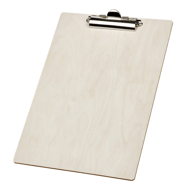Clipboard wood DIN A4 writing pad writing surface writing board