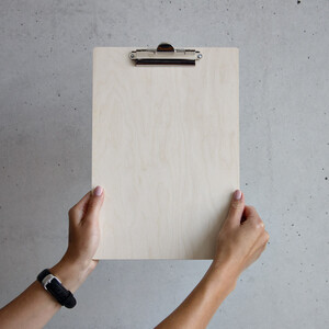 Clipboard wood DIN A4 writing pad writing surface writing...