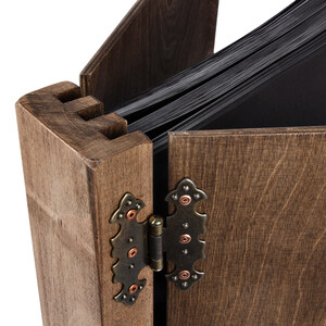 75 black sheets wood photo album 390 x 370 mm with 4 hinges