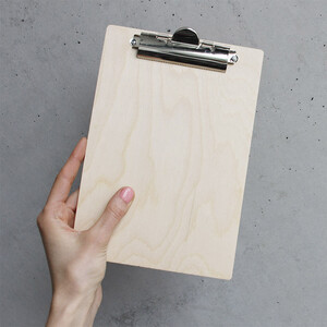 Clipboard wood DIN A5