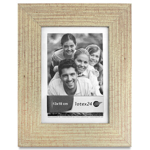 Wooden picture frame with glass pane for photos 13 x 18...