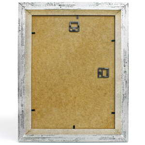 Silver picture frame with glass 21 x 29,7 cm retro structure