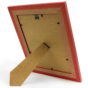 Picture frame red matt glass pane picture format 18 x 24...