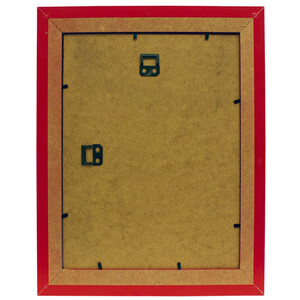 Picture frame made of wood red glass pane format 21 x...