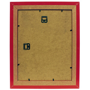 Wooden picture frame in red with glass 30 x 40 cm image...