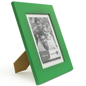 Smooth surface picture frame green with glass pane 15 x...