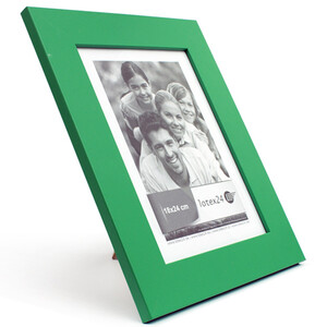 Picture frame of wood 25 x 31 cm green with glass pane 18...