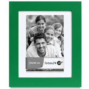 Wooden 31 x 37 cm green picture frame glass pane picture...