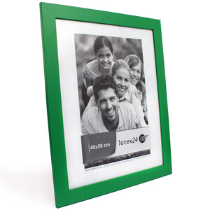 Large picture frame wooden 47 x 57 cm green with glass...
