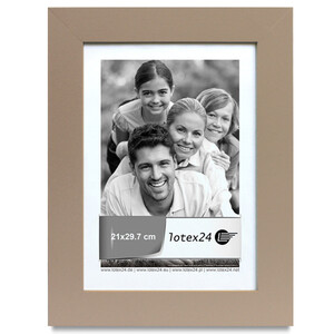 Beige picture frame wooden frame 28 x 36.6 cm picture...