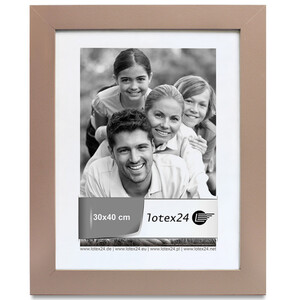 Frames beige portrait and landscape format glass image...