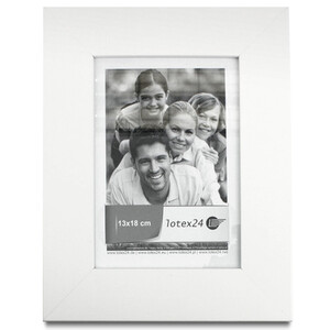 White picture frames with glass 13 x 18cm