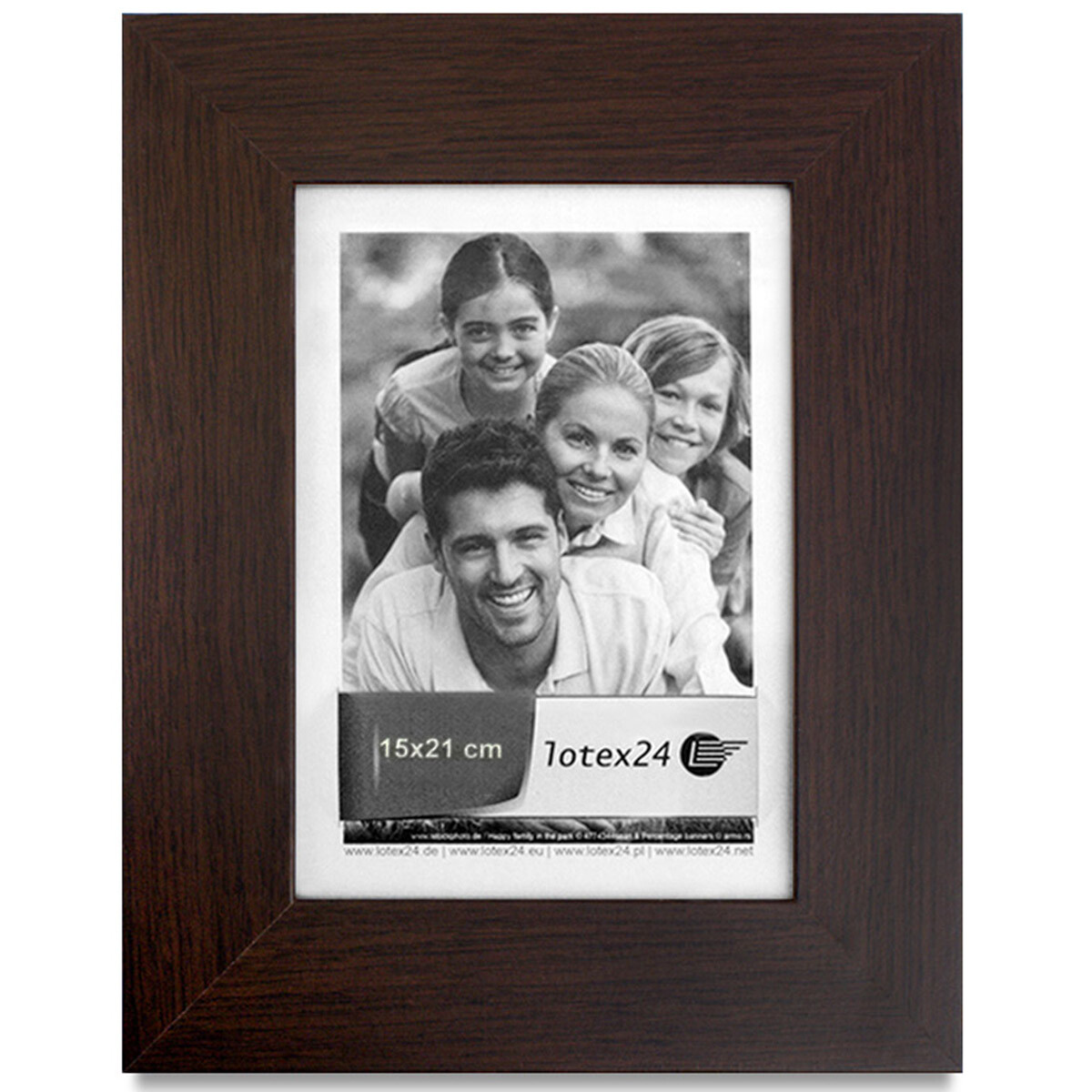 Picture Frame 15 x 21 cm Stand with Mount Wood Glass