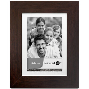 Picture frame dark brown glass pane 18 x 24 cm picture...