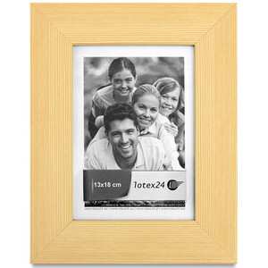 Wooden picture frame with light structure with glass pane...