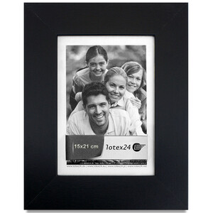 Photo frame picture format 15 x 21 cm black picture frame...
