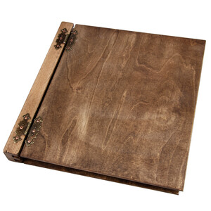 39 x 37 cm 50 sheets wooden photo album XXL with both...