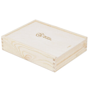 Storage box wooden photo box wooden box with lid 25 x 19...