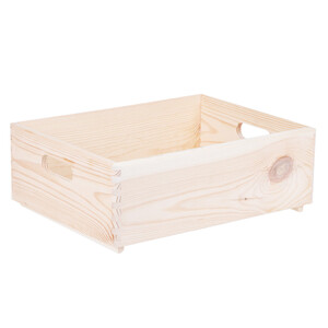 Holzbox 13 Liter Regalkiste 40 x 30 x 14 cm Box