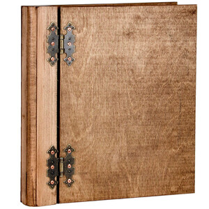 1 piece presentation folder wooden A4 ring binders