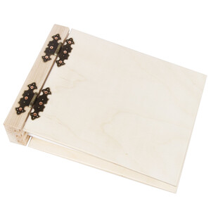 Both covers hinged 75-sheet, white natural, bright wooden...