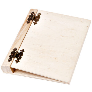 1 piece bright presentation folder wooden A4 ring binders