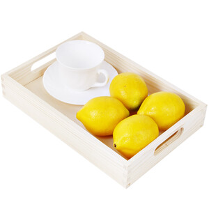 Wooden tray 20 x 30 cm birch bright wooden tray