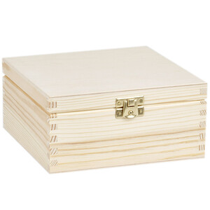 4 compartments with lock tea casket from nature 16.5 x...