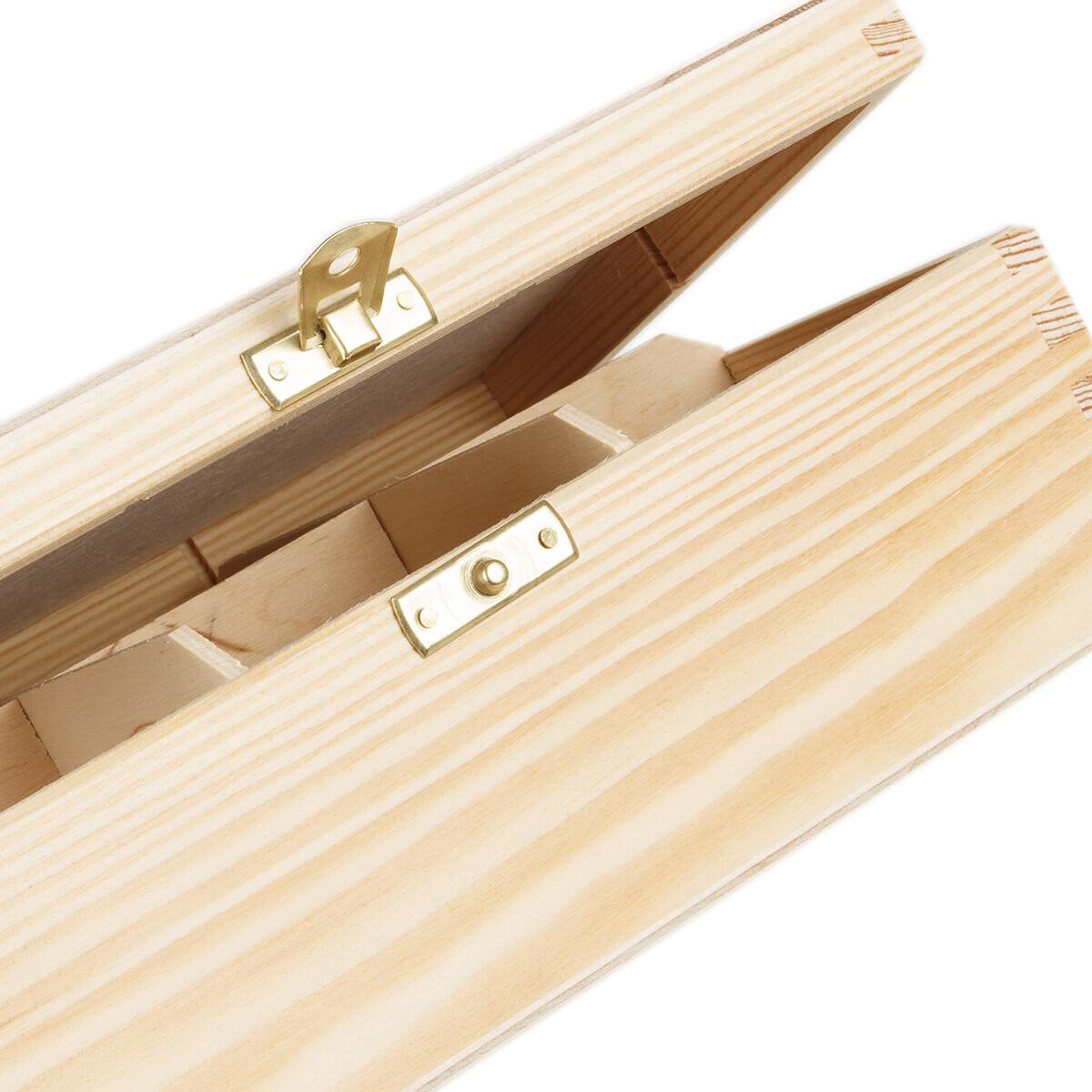 6 teef cher kiste aus hellem holz 225 x 165 mm. Black Bedroom Furniture Sets. Home Design Ideas
