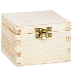 Tea box with 1 compartment and lock 10 x 10 x 7.5 cm...