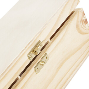 Tea casket with 3 compartments 22.5 x 9.5 x 8 cm natural...