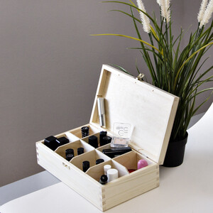 8 compartments tea casket with lock wooden box of nature...
