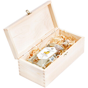 7 mm thick wooden gift box for liqueur
