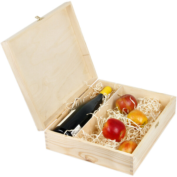 Gift box with a lock for 1 bottle of wine and other items