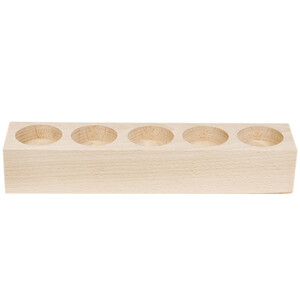 Tealight holder wood with 5 sockets solid natural wood...