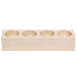 Tealight stand wooden holder for 4 candles made of...