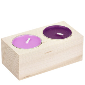 Tealight stand wooden holder natural wooden  height 4 cm...
