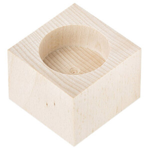Tealight wooden tealight holder 1 natural wood height 4...