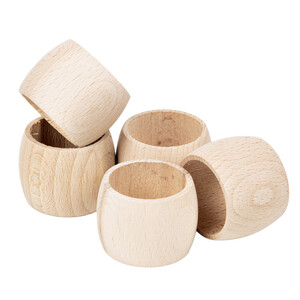 Napkin rings 5 pieces wooden serviette ring wooden napkin...