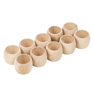 Serviette ring 10 pieces of wooden napkin rings wooden ring