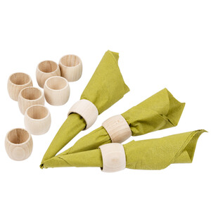 Wooden napkin rings 20 pieces of serviette rings natural...