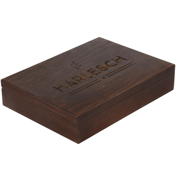 100 sheets guestbook with laser engraving packed in matching wooden box