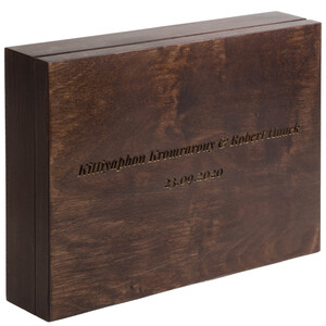 100 sheets guestbook with laser engraving packed in...