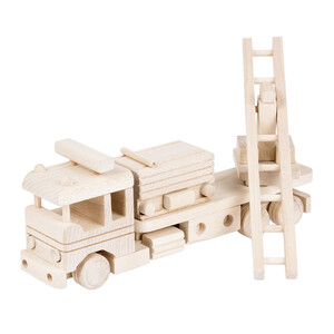 Wooden fire engine fire truck decopage wooden car wooden...