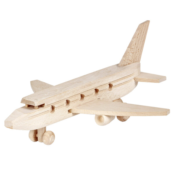 Wooden airplane airliner aircraft wooden toy