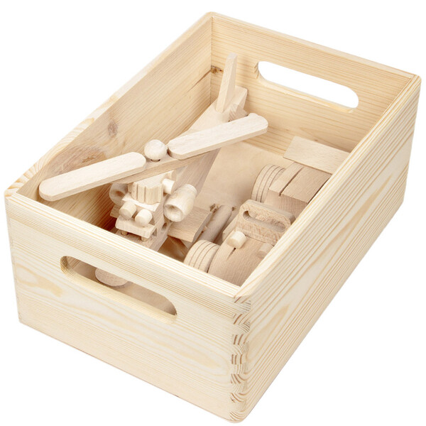 8,2 liter wooden box wood storage box stacking box handles