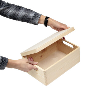 8,2 liter storage box wooden box wooden crate with lid