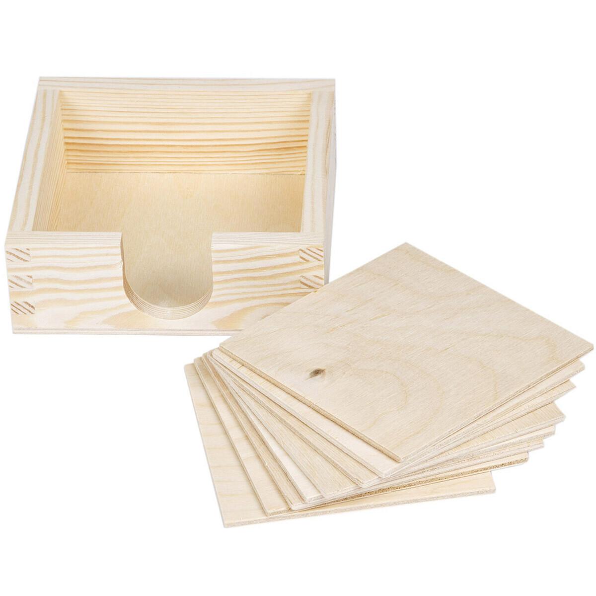 naturbelassener glasuntersetzer aus birkenholz. Black Bedroom Furniture Sets. Home Design Ideas
